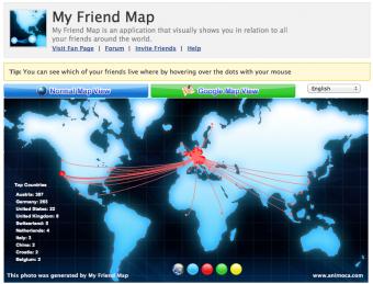 Facebook Friend World Map