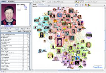 TouchGraph Facebook Visualisierung