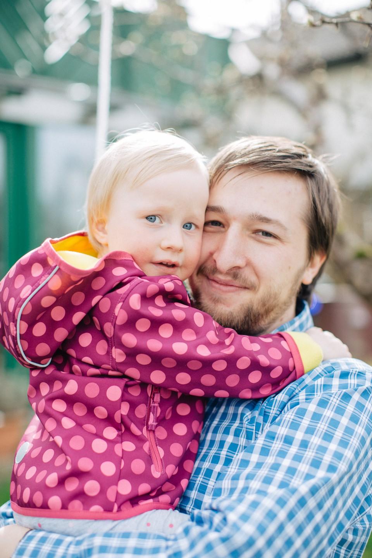 Luca mit Tochter